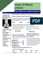 Professor Weissman's Algebra Classroom 04 Division Wholes