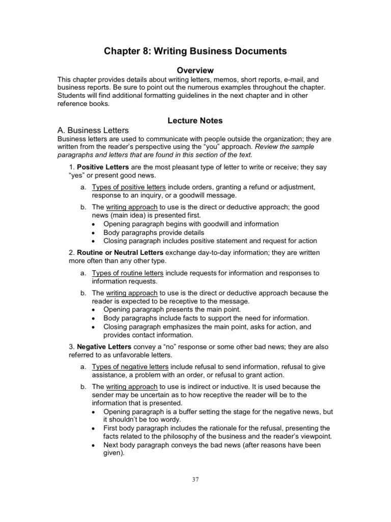 Ch08 Memorandum Email