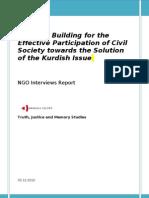 NGO Interviews report