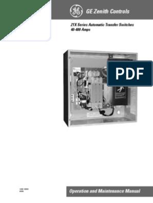 [DIAGRAM_34OR]  Manual Ats Zenith | Switch | Electric Generator | Zenith Ats Wiring Diagram |  | Scribd