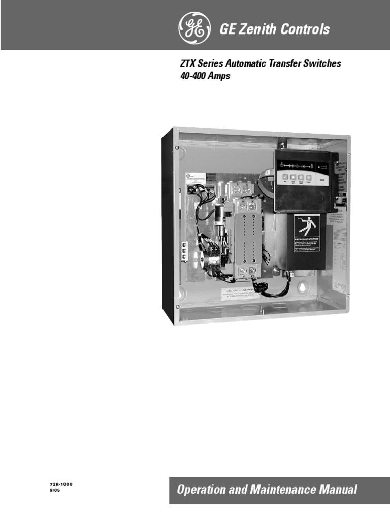 Manual Ats Zenith Switch Electric Generator Ati Transfer Wiring Diagram