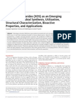 Xylooligosaccharides (XOS) as an Emerging tic Microbial Synthesis, Utilizatin Structural Characterization, Bioactive Properties and Application