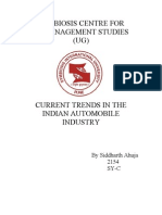 Current Trends in the Automobile Industry