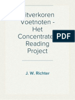 Uitverkoren Voetnoten - Het Concentrated Reading Project