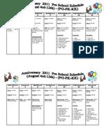Cronograma Pres School