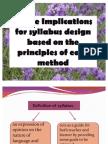 Implication on Syllabus Design