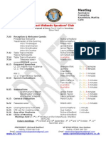 East Midlands Speakers Programme for Meeting 108 15th August 2011
