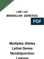 LSM1102 Lecture 2 Mendelian Genetics