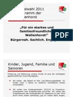 SPD Wallenhorst Wahlprogramm 2011
