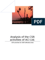 CSR Activities of ACI Limited