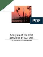 CSR Activities of ACI Limited