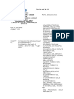 Formato Word Della Circolare Del 20 Giugno 2011 n