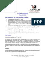 The Monarch Report 8-8-11