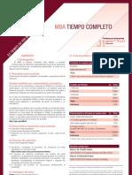 Hoja informativa del MBA Tiempo Competo II