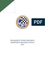 Reglamento Mecanico 2011
