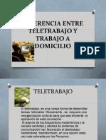 Diferencia Entre Teletrabajo y Trabajo a Domicilio