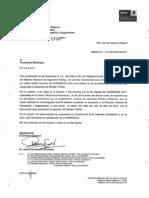 Oficio del Secretariado Ejecutivo de Seguridad Pública sobre el SUBSEMUN