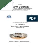 III Semester Ug - Admission on 2007