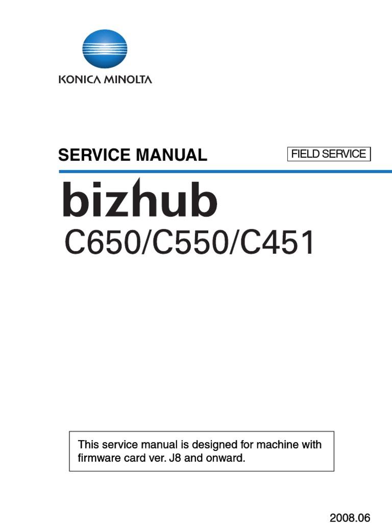 ... Manual-1 bizhubc451 c550 c650fieldsvc ac power plugs and sockets rh  scribd com konica minolta bizhub c650 c550 ...