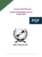 Declaración de la Creatividad Sostenible