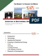 100511 Investing in Geothermal Energy