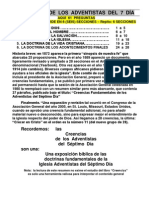 CREENCIAS  DE  LOS  ADVENTISTAS  DEL  7  DÍA -61 PREGUNTAS