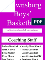 Bulldog Boys Basketball Power Point 9-22-08