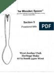 Wooden Spoon Powdered Milk