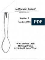 Wooden Spoon Powdered Milk