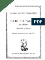 BRESCIANELLO G.a. - 18 Partite (Rev Chiesa) (Guitar - Chitarra)