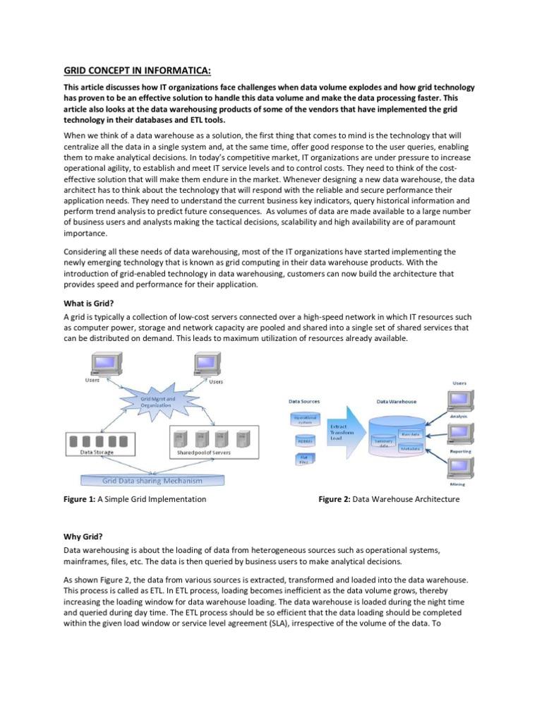Grid Concept | Grid Computing | Data Warehouse