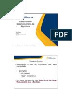 Java,Tipos de Dados Variaveis Entrada e Saida