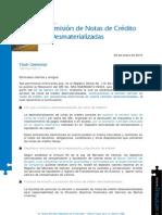 NOTAS DE CRÉDITO DESMATERIALIZADAS