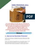 ELECCIONES PRIMARIAS 2011 6º a