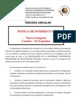 TerceraCircular - Cuarto Simposio de  Investigación