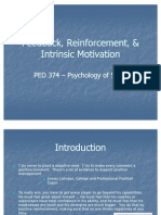 PED 374 Feedback Reinforcement and Int Motivation