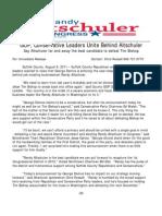 Suffolk GOP & Conservative Leaders Unite Behind Altschuler 8-8