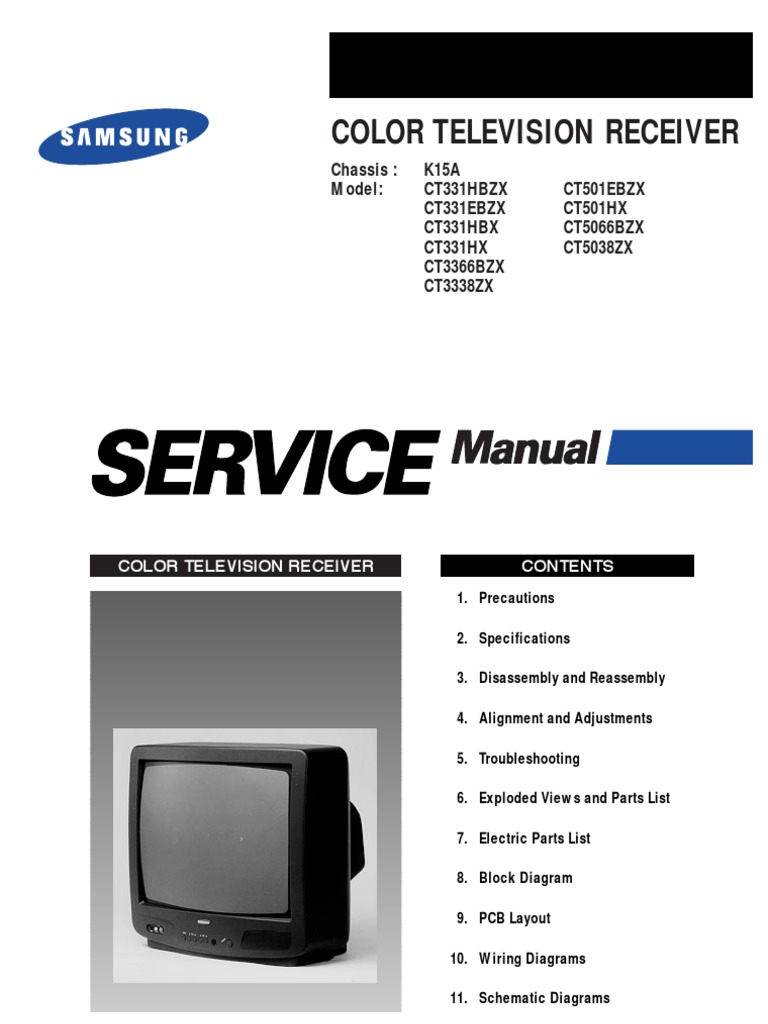 samsung ct5038 service manual k15a electrostatic discharge rh scribd com Samsung TV Audio Out Samsung Smart TV 50