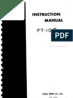 Yaesu Ft-101 Transceiver Service Manual