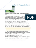 Careers You Can Be Passionate About