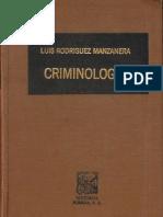 Criminologia - Luis Rodriguez Manzanera