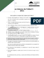 Bases Torneo Fútbol 5