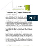 2011-8-7 Lederer PWM US Sovereign Debt Downgrade Update