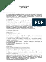 Programa Procesal Penal - U.N.S.