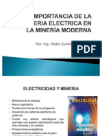 IMPORTANCIA DE LA INGENIERIA ELECTRICA EN LA MINERÍA