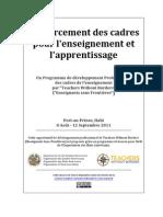 Building Capacity for Teaching and Learning / Renforcement des cadres pour l'enseignement et l'apprentissage (Haiti)