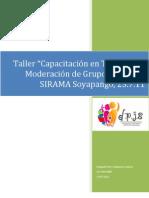 Informe Capacitación Técnicas Moderación de Grupos Focales_27.7.11