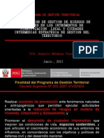 Gestion de Riesgos y Ciudades Inter Medias - Urb. Augusto Mendoza