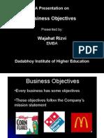 Business Objectives - Wajahat Rizvi