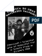 Crónica de unas navidades salvajes - Comunicados y reflexiones desde las okupaciones tras la revuelta griega de Diciembre del 2008